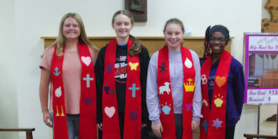 Confirmands made stoles on October 7th